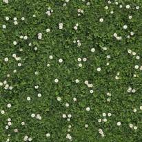 Rasen Blumen , bedruckter Teppichboden mit B1 C-fls1