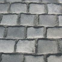 Kopfsteinpflaster , bedruckter Teppichboden mit B1 C-fls1
