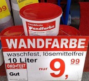 Wandfarbe  10L  - only pick-up no shipping