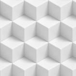 weißer Würfel , bedruckter Teppichboden mit B1 C-fls1