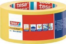 Präzisionskrepp 4334 glatt gelb Länge 50 m Breite 50 mm Rolle TESA
