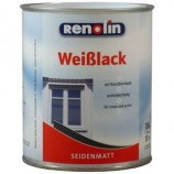 Renolin Weißlack seidenmatt Weiß 0,75 L